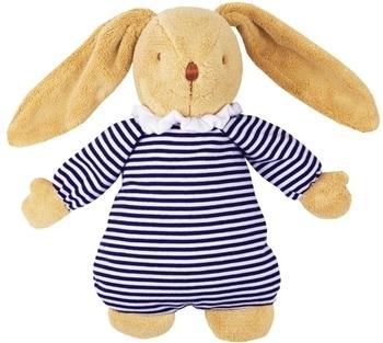 Купить Мягкие игрушки, Мягкая музыкальная игрушка Trousselier Пушистый кролик, 25 см, синий с белым, Франция