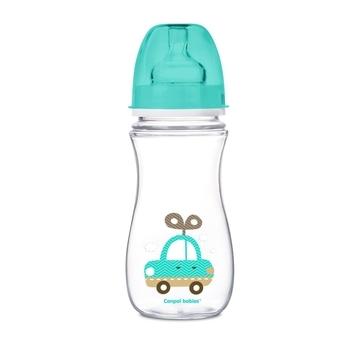 Купить Бутылочки и соски, Антиколиковая бутылочка Canpol Babies Easystart Цветные зверята 12+, 300 мл, бирюзовый (35/204)