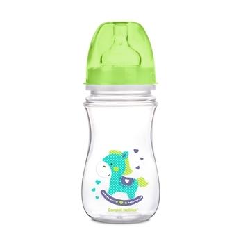 Купить Бутылочки и соски, Антиколиковая бутылочка Canpol Babies Easystart Цветные зверята, 240 мл (35/206 - салатовый)