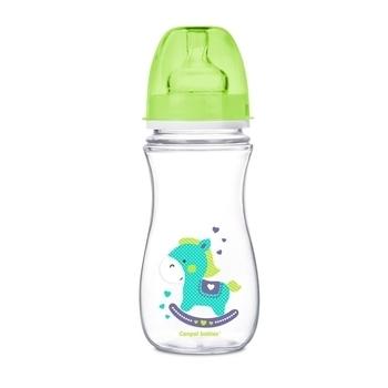 Купить Бутылочки и соски, Антиколиковая бутылочка Canpol Babies Easystart Цветные зверята 12+, 300 мл, салатовый (35/204)