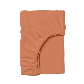 Купить Постельное белье, Простыня на резинке Cosas, 140х200 см, ранфорс, коричневый, Украина