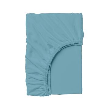 Купить Постельное белье, Простыня на резинке Cosas, 140х200 см, ранфорс, синий, Украина