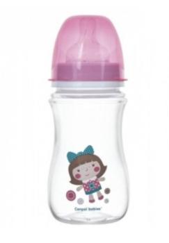 Купить Бутылочки и соски, Антиколиковая бутылочка Canpol Babies Easystart, 240 мл (35/206 - розовый)