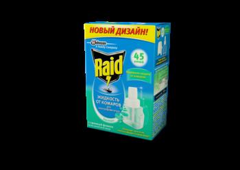 Купить Средства защиты от комаров и насекомых, Жидкость Raid для електрофумигаторов Эвкалипт 45 ночей, 32, 9 мл, Китай