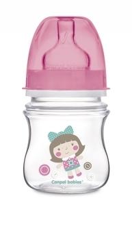 Купить Бутылочки и соски, Антиколиковая бутылочка Canpol babies Easystart, 120 мл, розовый (35/205), Польша