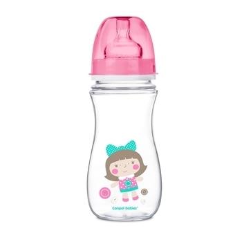 Купить Бутылочки и соски, Антиколиковая бутылочка Canpol Babies Easystart 12+, 300 мл, розовый (35/204 Рожевий), Польша