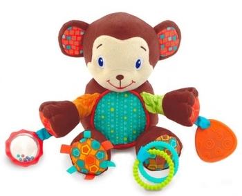 Купить Погремушки и прорезыватели, Развивающая игрушка Bright Starts Бесконечное развлечение Обезьянка (8814)