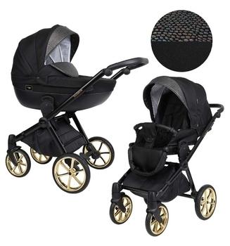 Купить Детские коляски, Универсальная коляска 2 в 1 Kunert Talisman 02, черный с серым (K-T-02), Польша, Черный