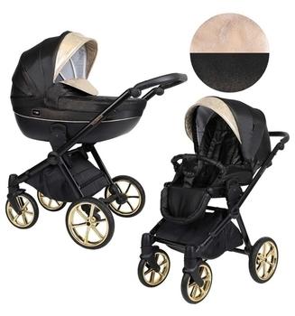 Купить Детские коляски, Универсальная коляска 2 в 1 Kunert Talisman 01, черный с золотым (K-T-01), Польша, Черный