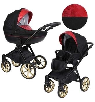 Купить Детские коляски, Универсальная коляска 2 в 1 Kunert Talisman 03, черный с красным (K-T-03), Польша, Черный