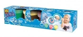 Набор для игры в ванной SES Гуашь со штампами, 4x120 мл SES