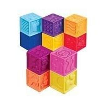 Купить со скидкой Развивающие силиконовые кубики Battat Посчитай-Ка! (10 кубиков в сумочке)