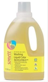 Концентрированное органическое жидкое средство для стирки цветных тканей Sonett, 1,5л Sonett