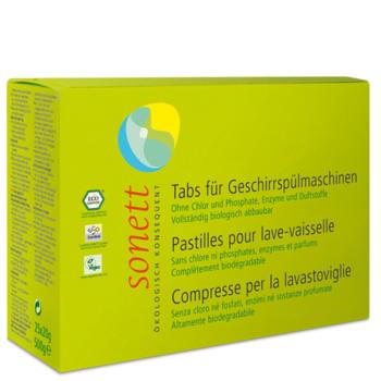 Органические таблетки для посудомоечных машин Sonett, 25 шт. Sonett