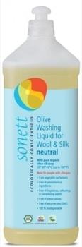 Органическое оливковое жидкое средство для стирки шерсти и шелка Sonett, 1л Sonett