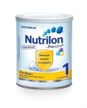 Сухая детская молочная смесь Nutrilon Комфорт 1, 400 г Nutrilon