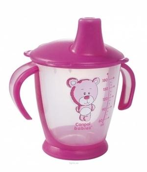 Чашка-непроливайка Canpol babies Друг медвежонок, 180 мл, розовый (31/500) Canpol babies