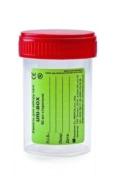 Емкость для анализа мочи FL medical URI-BOX стерильная, 60 мл FL medical