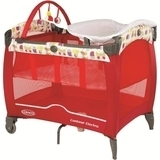 Манеж Graco Contour Electra Garden Friends, красный - Pampik