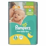Подгузники Pampers New Baby Mini 2 (3-6 кг) MICRO PACK 17 шт.+Подарок (Pampers Premium Care Midi, 2 шт.)