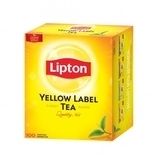 Черный чай Lipton Yellow Label в пакетиках, 100 шт.