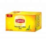 Черный чай Lipton Yellow Label  в пакетиках, 50 шт.