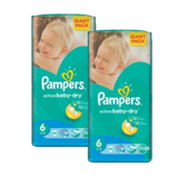 Набор Подгузники Pampers Active Baby-Dry Extra Large 6 (15+ кг) Giant Pack, 2х56 шт.