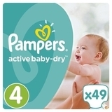 Подгузники Pampers Active Baby Maxi 4 (8-14 кг), 49 шт.