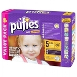 Подгузники Pufies Art&Dry Junior 5 (11-20 кг), 36 шт.