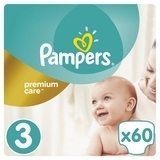 Подгузники Pampers Premium Care Dry Max Midi 3 (5-9 кг) 60 шт. - Pampik