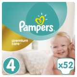 Подгузники Pampers Premium Care Dry Max Maxi 4 (8-14 кг) 52 шт.