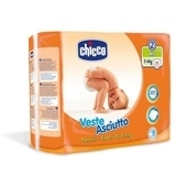 Подгузники Chicco Veste Asciutto Mini 2 (3-6 кг), 25 шт. - Pampik