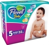 Подгузники Flovell Baby Junior (12-25 кг), 32 шт. - Pampik