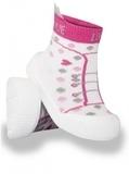 Текстильная обувь YO!, р.22, белый с розовым (OB-009) - Pampik