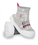Текстильная обувь YO!, р.22, серый с розовым (OB-009) - Pampik