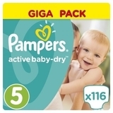 Подгузники Pampers Active Baby-Dry Junior 5 (11-18 кг) GIGA PACK, 116 шт.