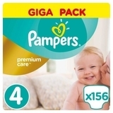 Подгузники Pampers Premium Care Maxi 4 (8-14 кг) GIGA PACK, 156 шт.
