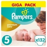 Подгузники Pampers Premium Care Junior 5 (11-18 кг) GIGA PACK, 132 шт.