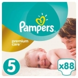 Подгузники Pampers Premium Care Dry Max Junior 5 (11-18 кг) MEGA PACK 88 шт. - Pampik