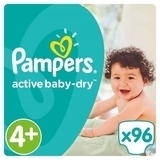 Подгузники Pampers Active Baby-Dry Maxi Plus 4+ (9-16 кг) Giant Box Plus, 96 шт. - Pampik