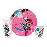 Набор детский Luminarc Disney Party Minnie, 3 шт. (L4877) - Pampik