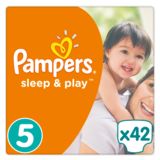 Подгузники Pampers Sleep&Play Размер 5 (Junior) 11-18 кг, 42 шт. - Pampik