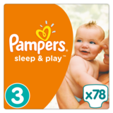 Подгузники Pampers Sleep&Play Midi 3 (4-9 кг) JUMBO PACK 78 шт. - Pampik