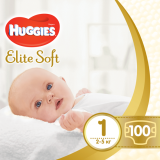 Подгузники Huggies Elite Soft Newborn 1 (2-5 кг), 100 шт. - Pampik