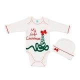 Комплект Minikin Мое первое Рождество, интерлок, р.74, молочный (171300874) - Pampik