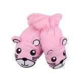 Лыжные рукавицы YO! Мышки, р.18, светло-розовый (RN-78/GIR/18) - Pampik