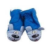 Лыжные рукавицы YO! Собачки, р.16, синий (RN-96/BOY/16) - Pampik
