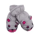 Лыжные рукавицы YO! Мышки, р.18, серый (RN-78/GIR/18) - Pampik
