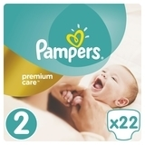 Подгузники Pampers Premium Care New Baby 2 (3-6 кг) MICRO PACK 22 шт. - Pampik