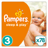 Подгузники Pampers Sleep & Play Midi 3 (5-9 кг), 78 шт. - Pampik
